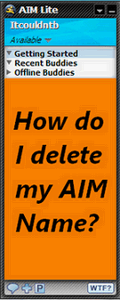 How to delete your AOL or AIM screen name