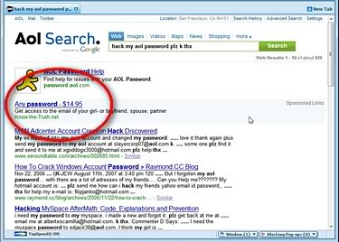 AOL Unsafe Search